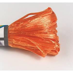 Raphia artificiëlle 30 m orange brillant