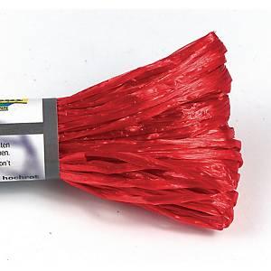 Raphia artificiëlle 30 m rouge brillant