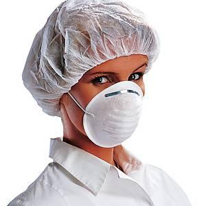 Mascherina igienica a conghiglia bianco - conf. 50