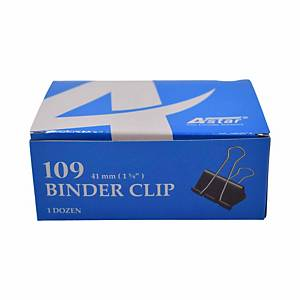Binder Clips  41mm Black - Box Of 12