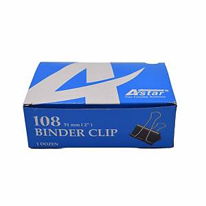 Binder Clips  51mm Black - Box Of 12