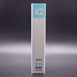 EMI File PVC Insert 2D Ring A4 Binder 40mm White