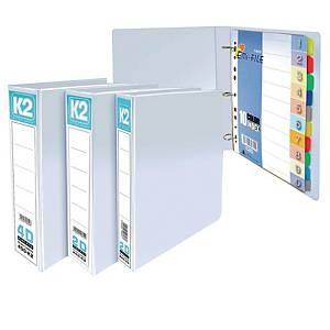 EMI File PVC Insert 4D Ring A4 Binder 25mm White