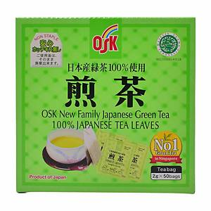 OSK Green Tea Bag Enveloped - Box of 50