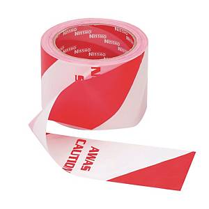 Red/White Warning Tape 76mm X 70m