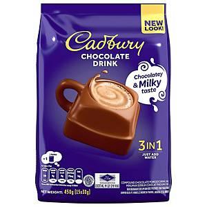 Cadbury 3 in 1 Hot Chocolate 450g - Pack of 15