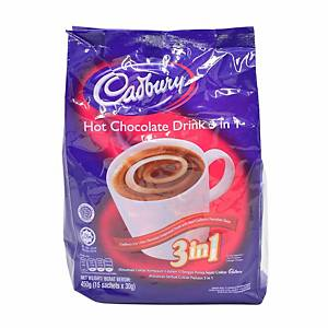 Cadbury 3 in 1 Hot Chocolate 450g - Pack of 15