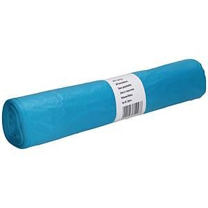Sacs poubelle, 120 l, 70 x 110 cm, 20 microns, bleus, le rouleau de 25 sacs
