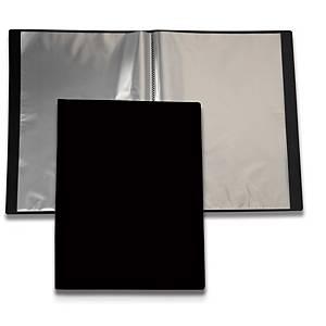 Esittelykansio A4 etutaskulla 20 taskua PP musta