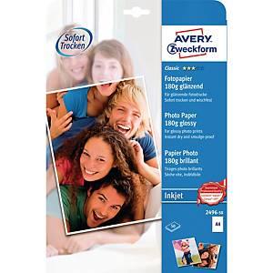 Fotopapier Avery Zweckform 2496, Inkjet, A4, 180g, glänzend, 50 Blatt