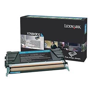 Toner LEXMARK X748H3CG niebieski