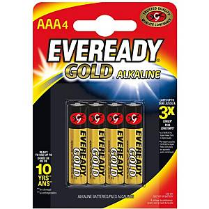 BX4 EVEREADY AAA/LR03 BATTERIE GOLD