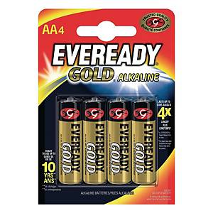 BX4 EVEREADY AA/LR06 BATTERIE GOLD
