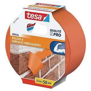 Ruban adhésif de masquage PVC Tesa - 50 cm x 33 m - orange