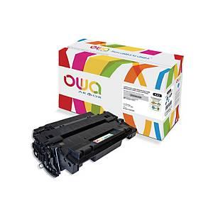 Cartouche de toner Owa compatible équivalent HP 55A - CE255A - noire