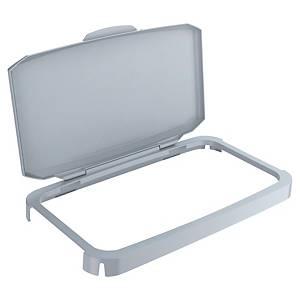Couvercle à charnière pour conteneur à déchets Durabin, gris