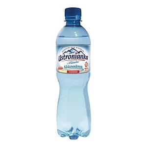 Woda mineralna USTRONIANKA gazowana, 12 butelek x 0,5 l