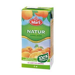 Marli Natur täysmehu appelsiini 0,2L, 1 kpl=27 mehua