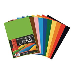 Papier dessin 160 g A4 10 couleurs - le paquet de 250