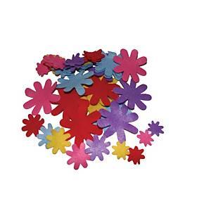 Formes en feutrine fleurs - le paquet de 50