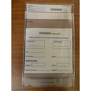 Sacs pour chèques - contenance 500 chèques - 190 x 260 mm - paquet de 100