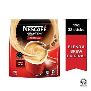 Nescafe 3 in 1 Coffee Blend & Brew Original - Pack of 28
