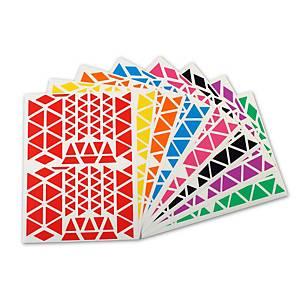 Apli gommettes triangulaires 166x216 mm - le paquet de 1200 gommettes