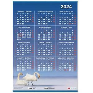 CC 6511 Vuosijuliste listoilla taulukkokalenteri 2021 520 x 720 mm