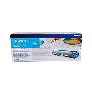 Lasertoner Brother TN241C, 1 400 sidor, cyan