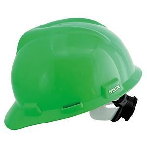 MSA V-GARD หมวกนิรภัย ANSI ปรับหมุน สีเขียว
