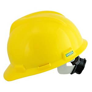 MSA V-GARD หมวกนิรภัย ANSI ปรับหมุน เหลือง