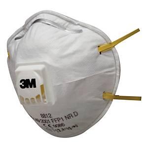 Atemschutzmaske mit Cool-Flow Ausatemventil 3M 8812, Typ FFP1, Pk. à 10 Stk.