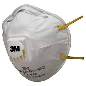 Respiratore a conchiglia 3M 8812 classic FFP1 con valvola - conf. 10