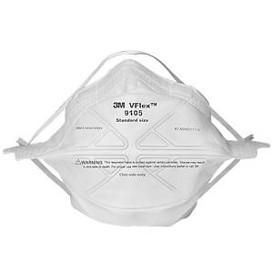 3M VFLEX™ หน้ากากป้องกันฝุ่น 9105 N95 พับได้ แพ็ค 50 ชิ้น