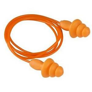 3M 1270 REUSABLE EAR PLUGS PVC CORDED NRR 24