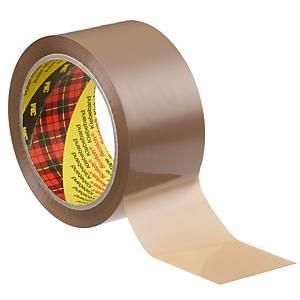 Scotch pakkausteippi PP 50mm x 66m ruskea, 1 kpl=6 rullaa