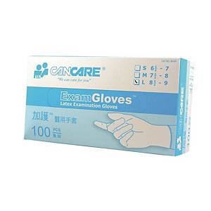 Cancare Latex Examination Gloves L - Box of 100