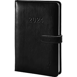 Buchkalender 2021 Chronoplan 50820, 1 Woche / 2 Seiten, 9,5 x 14,5cm, schwarz