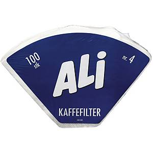 Kaffefilter Ali 1x4, hvit, pakke à 100 stk.