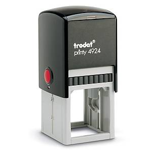 Trodat Printy 4924 personaliseerbare stempel, 40 x 40 mm, 8 lijnen