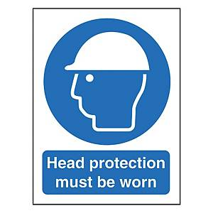 Head Protection Sign 600X400mm