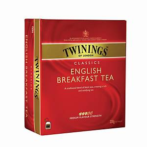 TWININGS English Breakfast Tea Bags Without Envelope - Box of 100