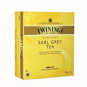 TWININGS Earl Grey Tea Bags Without Envelope - Box of 100