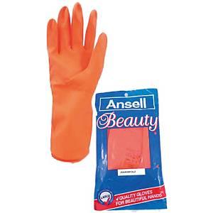 ANSELL ถุงมือ BEAUTY ลาเท็กซ์ 8 ส้ม 1 คู่