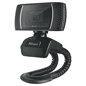 Webcam Trust Trino HD, 720 p, microphone, objectif à focale fixe, noir