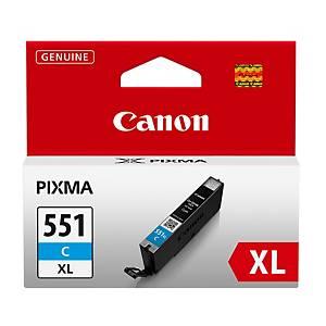 Canon CLI-551XL mustesuihkupatruuna syaani