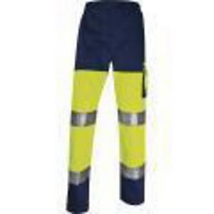 Reflexní kalhoty DELTAPLUS PANOSTYLE PHPA2, velikost L, žluté
