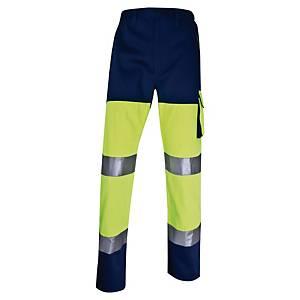 Warnschutzarbeitshose Deltaplus Panostyle, Größe: 2XL, 5 Taschen, gelb/blau