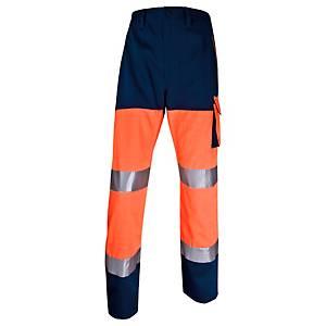 Warnschutzarbeitshose Deltaplus Panostyle, Größe: M, 5 Taschen, orange/blau