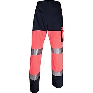 Warnschutzarbeitshose Deltaplus Panostyle, Größe: XL, 5 Taschen, orange/blau